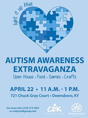 CLiK Growing Minds Autism Extravaganza 2017 Flyer
